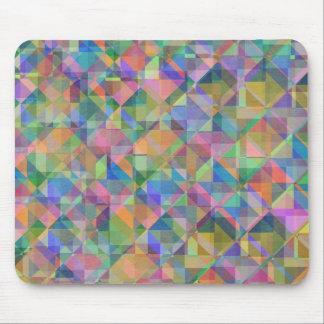 De koele kleurrijke bedekte vormen van driehoekenv muismat