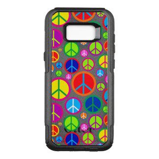 De koele Kleurrijke Hip Symbolen van de Vrede OtterBox Commuter Samsung Galaxy S8+ Hoesje
