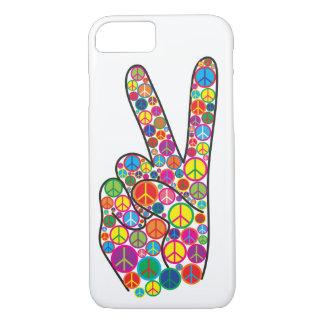 De koele Kleurrijke Hip Tekens van de Vrede iPhone 8/7 Hoesje