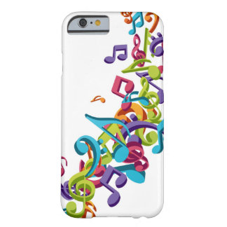 de koele kleurrijke muziek neemt nota & klinkt barely there iPhone 6 hoesje