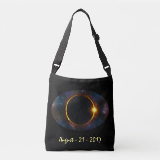 De koele Kosmische Totale ZonneVerduistering van Crossbody Tas
