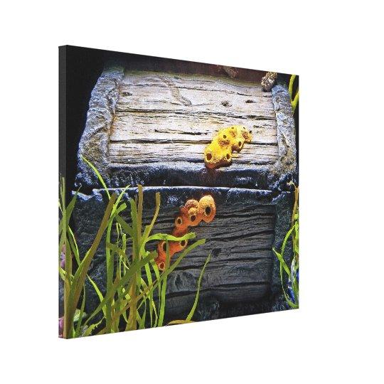 De koele OnderwaterBorst van de Schat Stretched Canvas Afdrukken