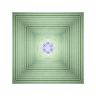 De koele Ongewone 3D Groene Optische illusie van Canvas Afdrukken
