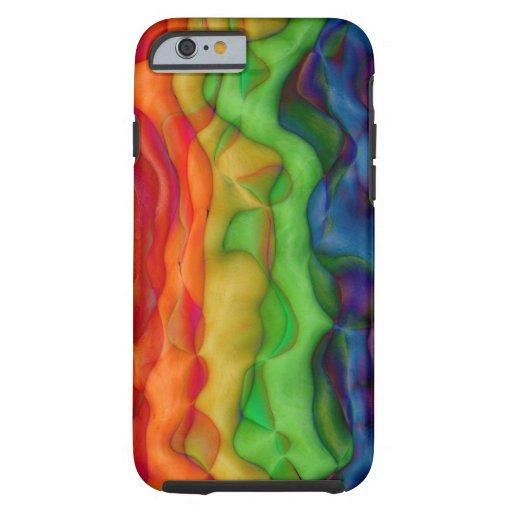 De koele Regenboog van de Trots van de Hippie van Tough iPhone 6 Case