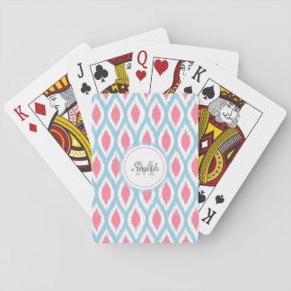 De koele retro geometrische kromme Ikat van het Speelkaarten