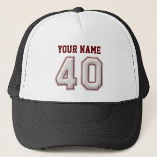 De koele Steken van het Honkbal - Naam en Nummer Trucker Pet