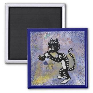 De koele Vierkante Magneet van de Kat van de Jazz