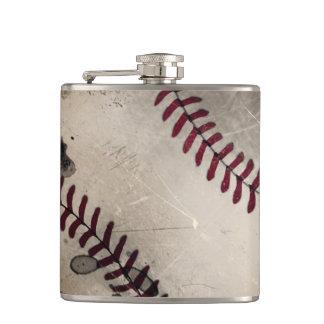 De koele Vintage Fles van het Honkbal Grunge Heupfles