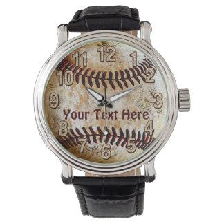 De koele Vintage Horloges van het Honkbal met UW