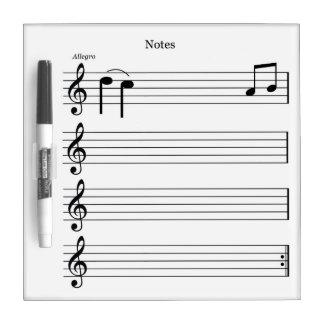De koelkast witte raad van nota's dry erase whiteboard