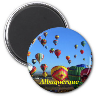 De koelkastmagneet van Albuquerque Ronde Magneet 5,7 Cm