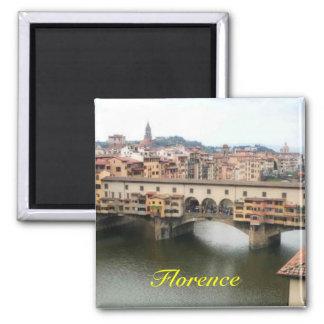 De koelkastmagneet van Florence Vierkante Magneet