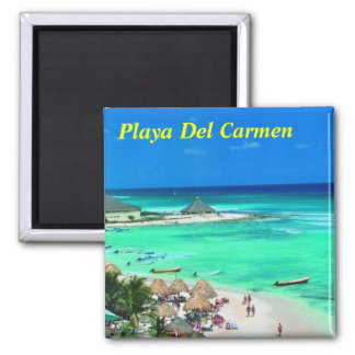 De koelkastmagneet van het Playa del Carmen Vierkante Magneet
