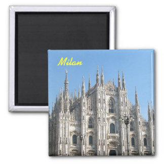 De koelkastmagneet van Milaan Vierkante Magneet