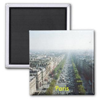 De koelkastmagneet van Parijs Vierkante Magneet