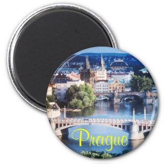 De koelkastmagneet van Praag Ronde Magneet 5,7 Cm