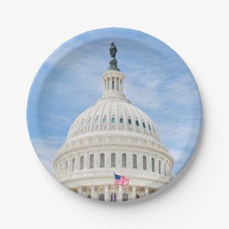 De Koepel van het Capitool van de V.S. Papieren Bordje