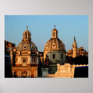 De Koepels van de Kerk van Rome Poster