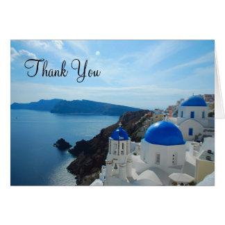 De Koepels van de Kerk van Santorini Briefkaarten 0