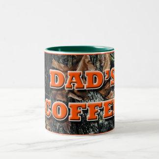 De Koffie Camo van de papa Tweekleurige Koffiemok