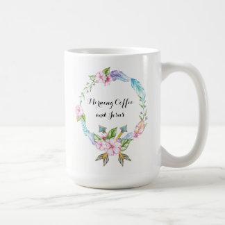 De Koffie en Jesus Classic Mug van de ochtend Koffiemok