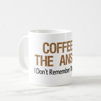 De koffie is het Antwoord ik niet de Vraag Koffiemok