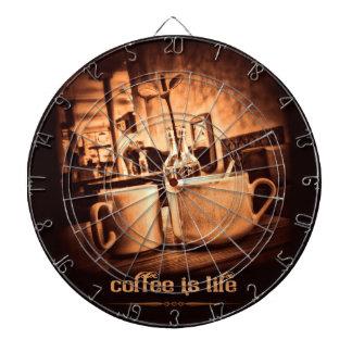 De koffie is het Leven Dartbord