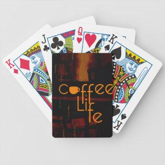 De koffie is het Leven Pak Kaarten