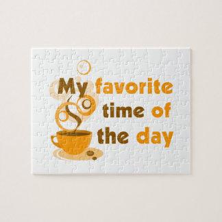 De koffie is Mijn Favoriete Tijd van de Dag Foto Puzzels