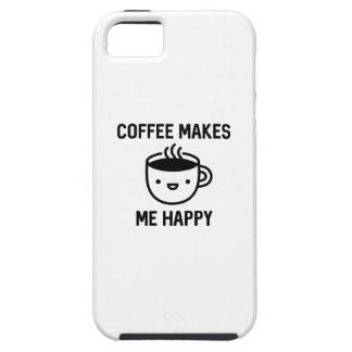 De koffie maakt me Gelukkig Tough iPhone 5 Hoesje