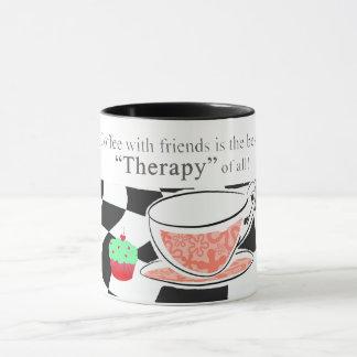 De koffie met Vrienden, is de beste therapie Mok