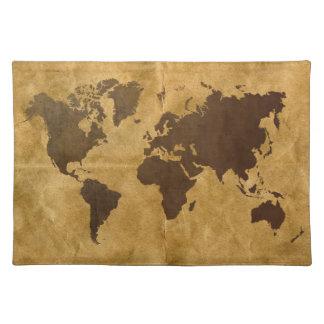 De koffie op papier Kijkt de Kaart van de Wereld Placemat
