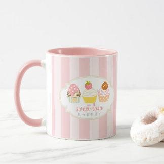 De Koffie Retro Zoete Leuke Cupcakes van de Mok