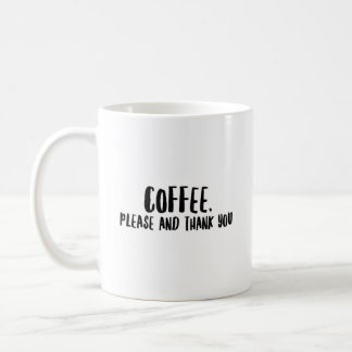 """De """"koffie tevreden en dankt u"""" - Klassieke Witte Koffiemok"""