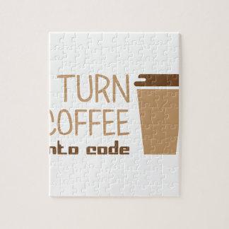 De Koffie van de draai in Code Puzzel
