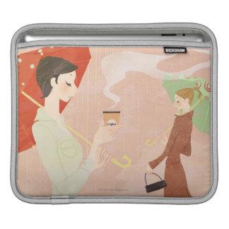 De Koffie van de Holding van de vrouw iPad Sleeve
