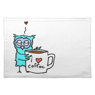 De Koffie van de Liefdes van de uil Placemat