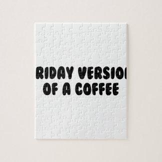 De Koffie van de vrijdag Legpuzzel