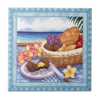 De Koffie van het eiland - Ontbijt Lanai Keramisch Tegeltje