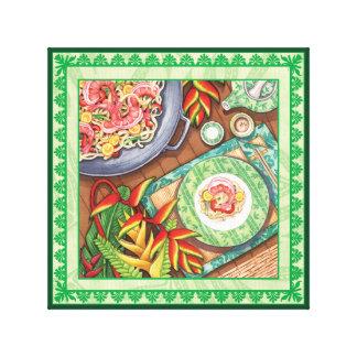 De Koffie van het eiland - Wok Heliconia Canvas Print