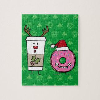 De Koffie van het Rendier van Kerstmis en de Puzzel
