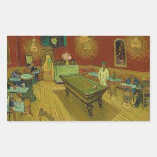De koffiebar van de Nacht door Vincent van Gogh Rechthoekige Sticker