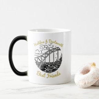 De koffiekop van de Vrienden van Halifax Dartmouth Magische Mok