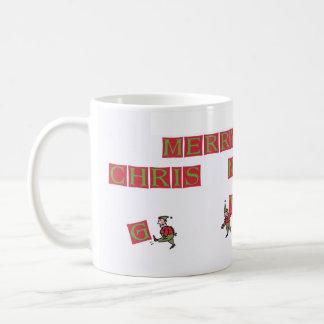 De koffiemok van de Elf van de kerstman Typo