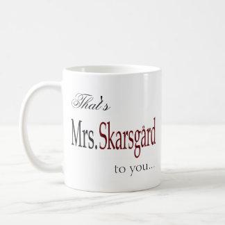 """De koffiemok van """"Mevr. Skarsgard"""""""
