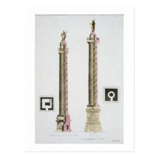 De kolom van Trajan, Rome, van 'Le Costume Ancien Briefkaart