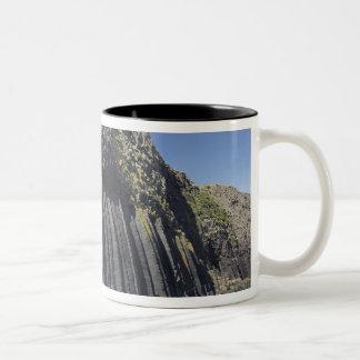 De Kolommen van het basalt door het Hol van Tweekleurige Koffiemok