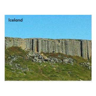 De Kolommen van het Basalt van Gerðuberg, Briefkaart
