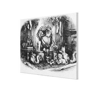 De komst van de Kerstman, 1872 Canvas Print