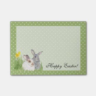 De Konijntjes van de lente in Bloemen Post-it® Notes